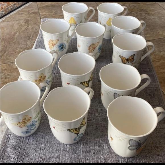 Lenox Butterfly Meadow 12oz Mugs, Assorted Set 12